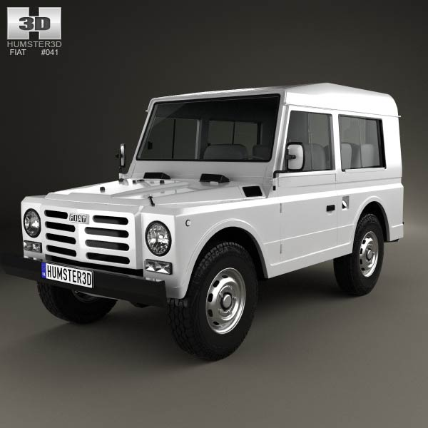 Fiat Campagnola Station Wagon 1987 3d car model
