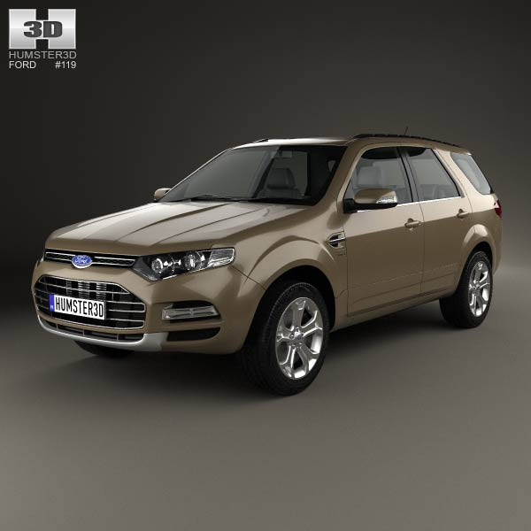 Ford Territory 2012 3d car model