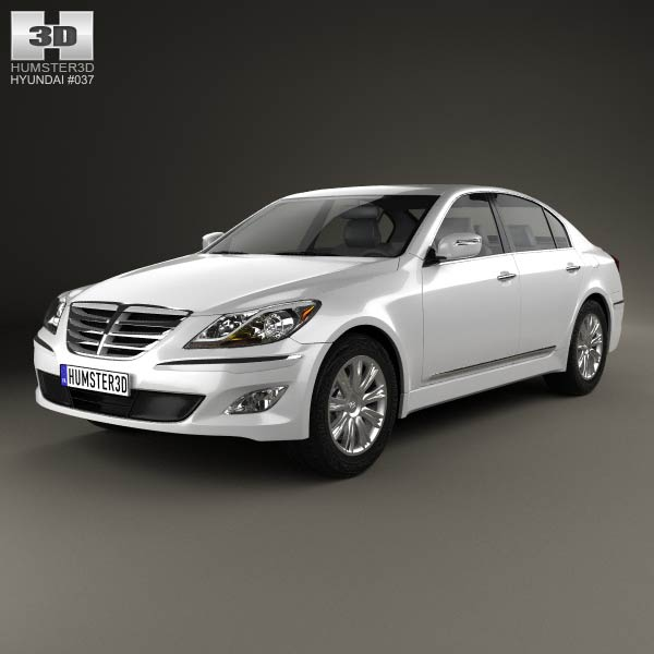 Hyundai Genesis (Rohens) sedan 2012 3d car model