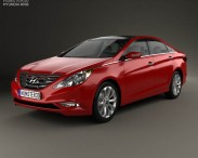 3D model of Hyundai Sonata (i45) 2012