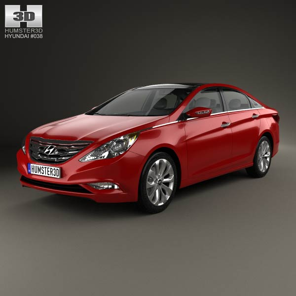 Hyundai Sonata (i45) 2012 3d car model