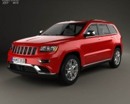 3D model of Jeep Grand Cherokee Summit 2014
