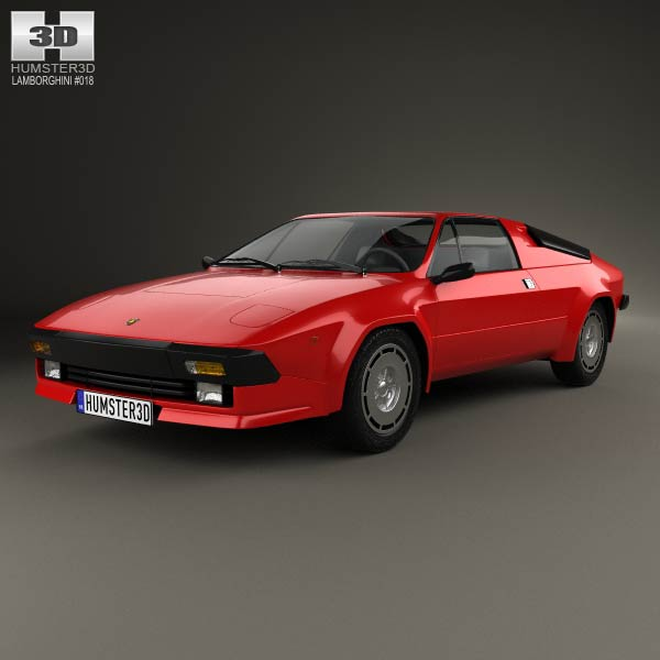 Lamborghini Jalpa P350 1984 3d car model