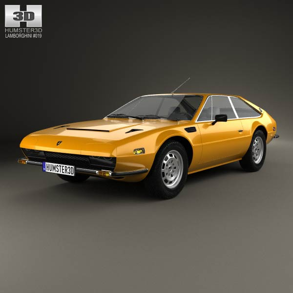 Lamborghini Jarama 400 GTS 1976 3d car model