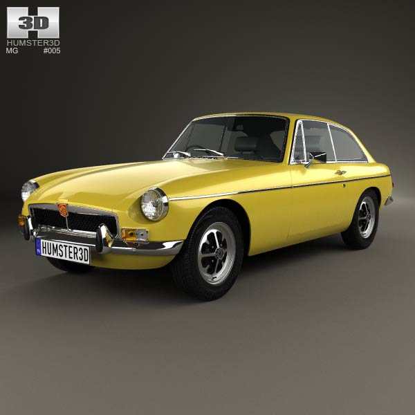 MG MGB GT V8 1973 3d car model