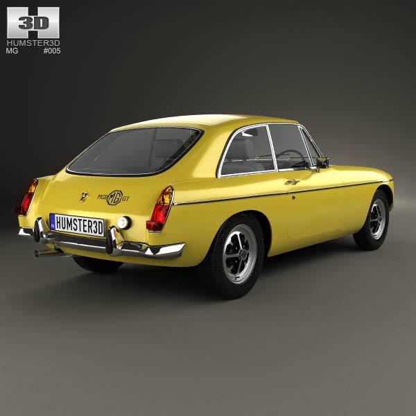 MG MGB GT V8 1973 3d model