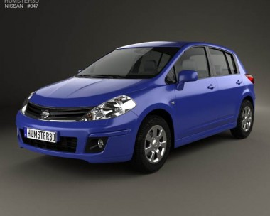 3D model of Nissan Tiida (C11) hatchback 2012