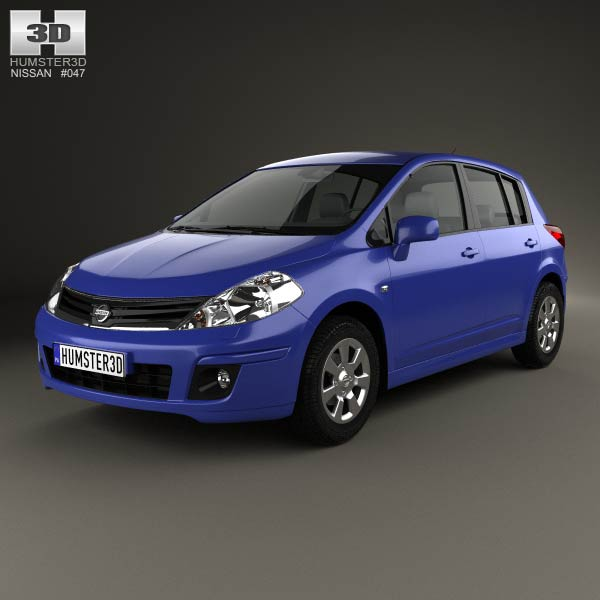 Nissan Tiida (C11) hatchback 2012 3d car model