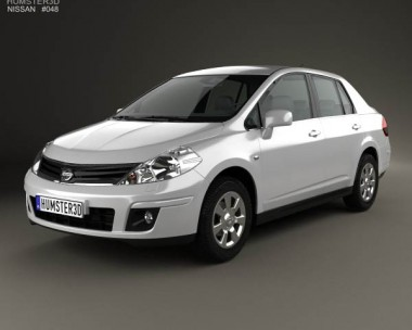 3D model of Nissan Tiida (C11) sedan 2012
