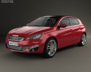 3D model of Peugeot 308 2014