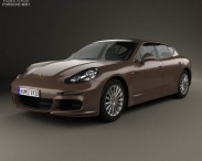 3D model of Porsche Panamera S 2014