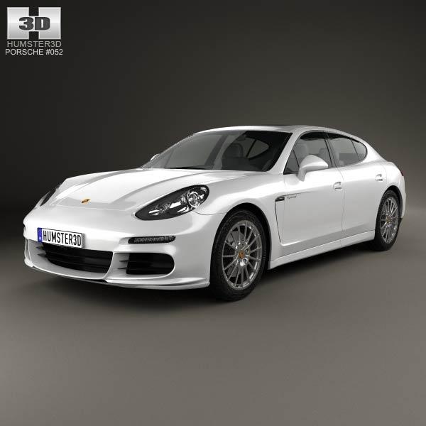 Porsche Panamera S E-Hybrid 2014 3d car model