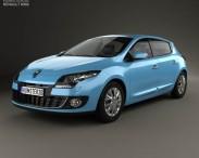 3D model of Renault Megane 5-door hatchback 2013