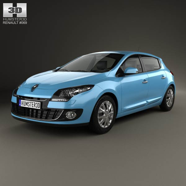 Renault Megane 5-door hatchback 2013 3d car model