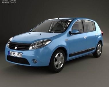3D model of Renault Sandero 2012