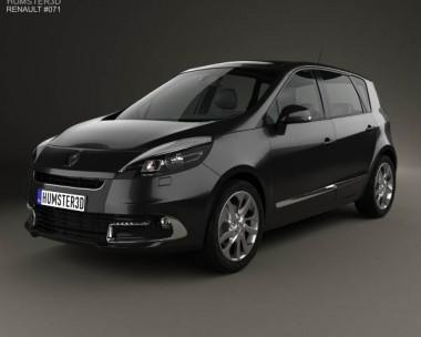 3D model of Renault Scenic 2013