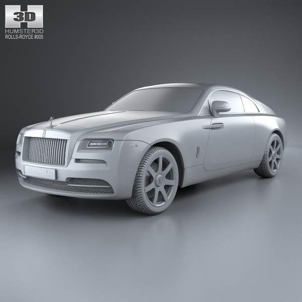 Rolls Royce Wraith Dimensions Rolls Royce Wraith 2014 3d