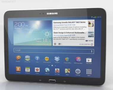 3D model of Samsung Galaxy Tab 3 10.1-inch Black