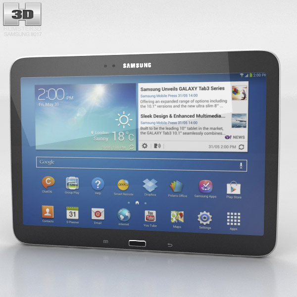 Samsung Galaxy Tab 3 10.1-inch Black 3d model