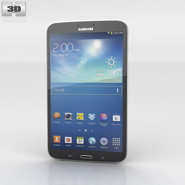 Samsung Galaxy Tab 3 8-inch 3d model
