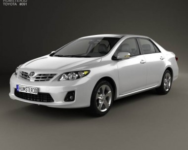 3D model of Toyota Corolla (E140) sedan EU 2012