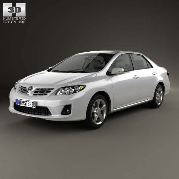 Toyota Corolla (E140) sedan EU 2012 3d car model