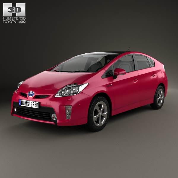 Toyota Prius (XW30) 2012 3d model