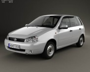 3D model of Lada Kalina (1117) wagon 2011