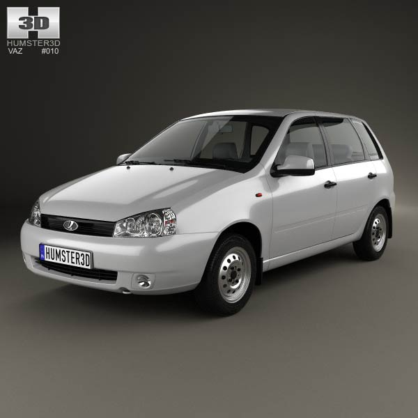 Lada Kalina (1117) wagon 2011 3d car model