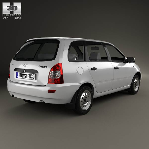 Lada Kalina (1117) wagon 2011 3d model