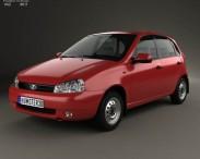 3D model of Lada Kalina (1119) hatchback 2011