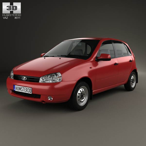 Lada Kalina (1119) hatchback 2011 3d car model