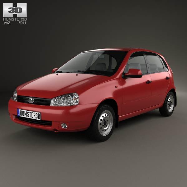 Lada Kalina (1119) hatchback 2011 3d car model