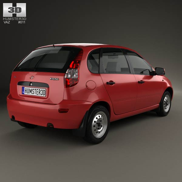 Lada Kalina (1119) hatchback 2011 3d model