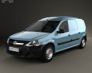 3D model of Lada Largus Van 2012