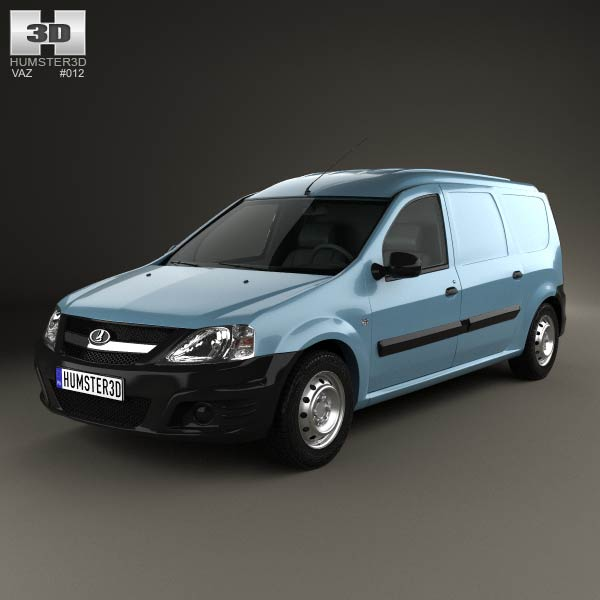 Lada Largus Van 2012 3d car model