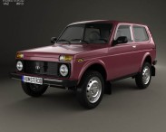 3D model of Lada Niva 4×4 21214 2012