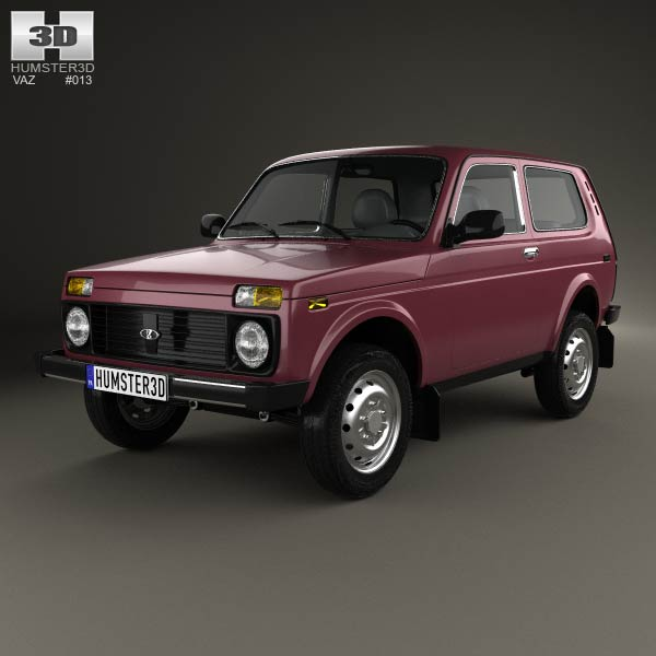 Lada Niva 4×4 21214 2012 3d car model