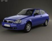 3D model of Lada Priora 21728 coupe 2012