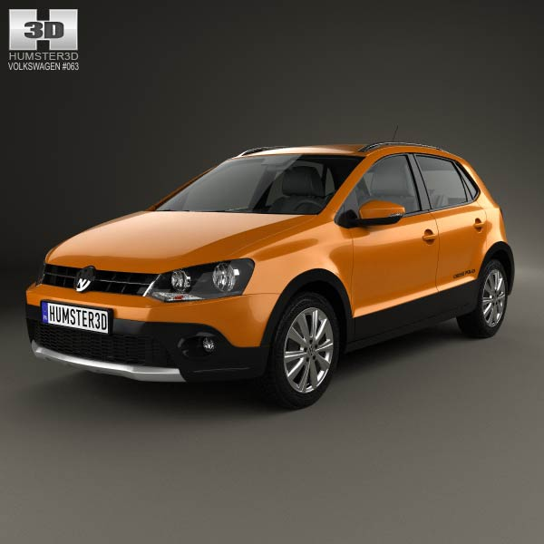 Volkswagen Cross Polo 2011 3d car model