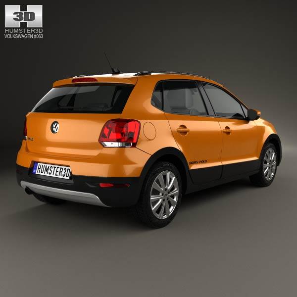Volkswagen Cross Polo 2011 3d model