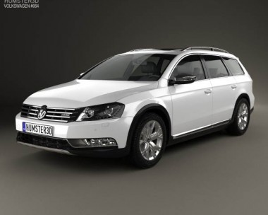 3D model of Volkswagen Passat (B7) Alltrack 2011