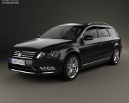 3D model of Volkswagen Passat (B7) variant 2011