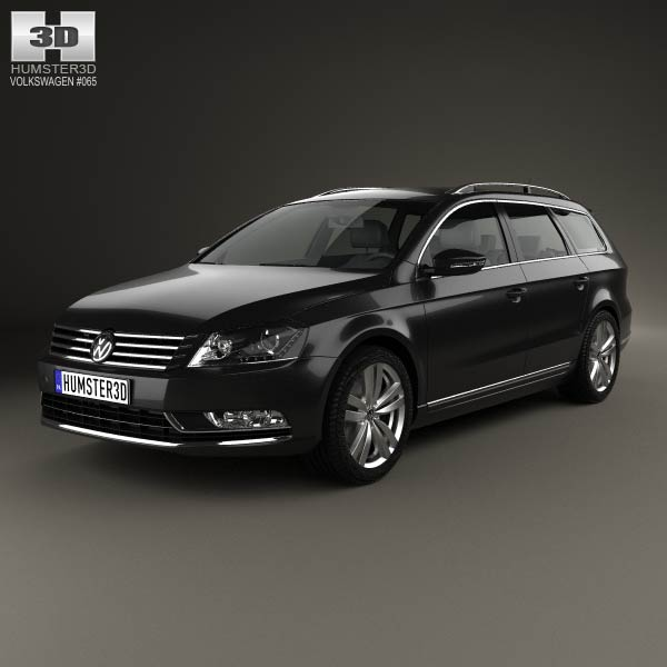 volkswagen passat b7 variant 2011 3d model humster3d. Black Bedroom Furniture Sets. Home Design Ideas