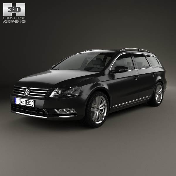 Volkswagen Passat (B7) variant 2011 3d car model