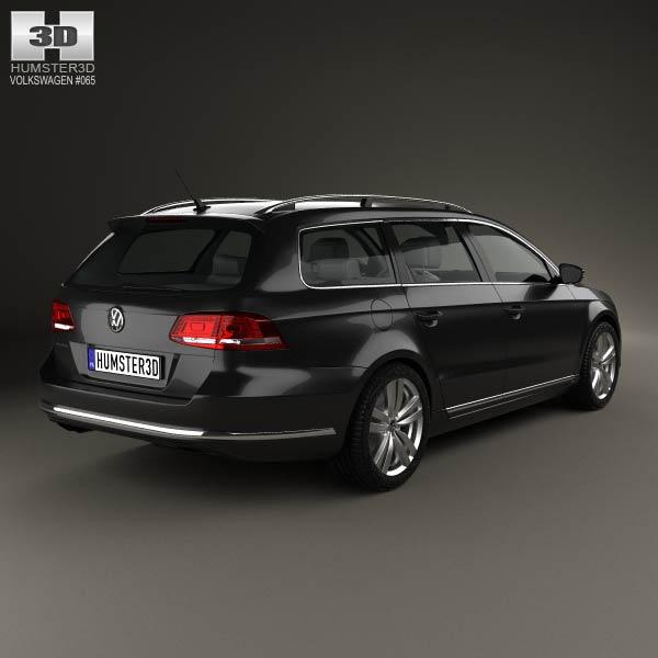 Volkswagen Passat (B7) variant 2011 3d model