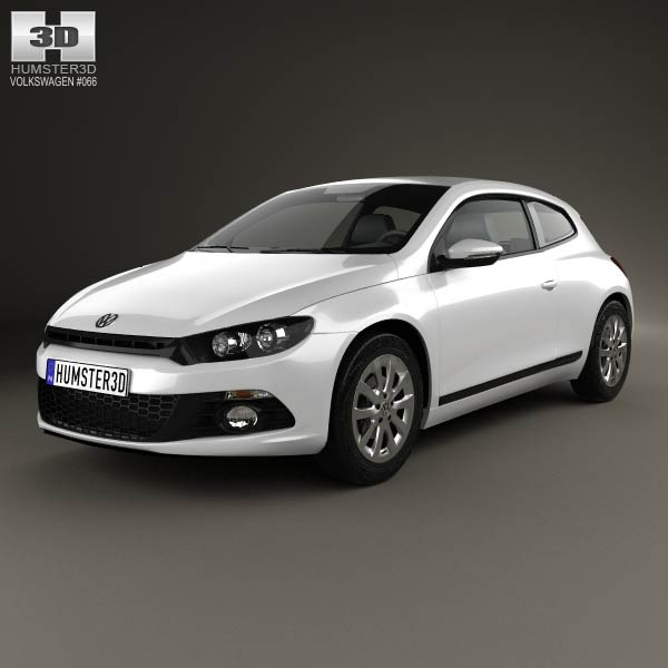 Volkswagen Scirocco 2012 3d car model