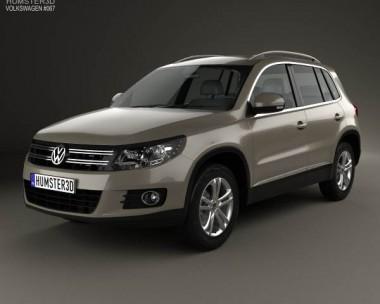 3D model of Volkswagen Tiguan Sport & Style 2012