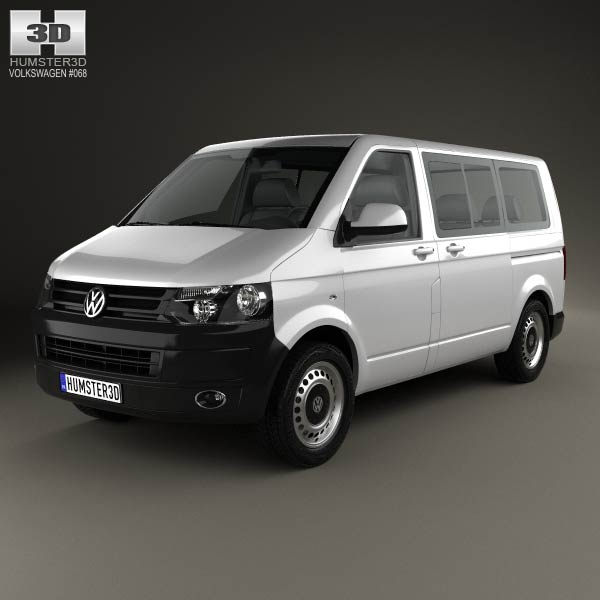 Volkswagen Transporter (T5) Kombi 2010 3d car model