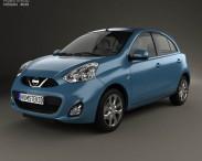 3D model of Nissan Micra 2014